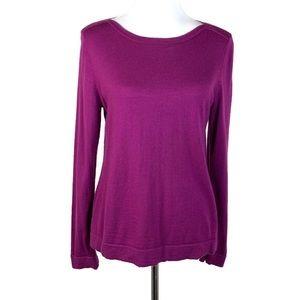 L K Bennett Dilo Sweater Sz L? Purple Long Sleeve